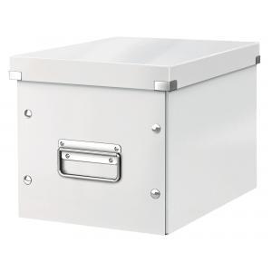 Štvorcová škatuľa A5 (M) Click & Store perleťova biela