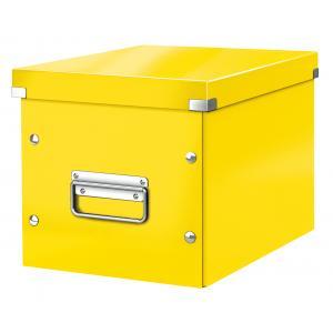 Štvorcová škatuľa A5 (M) Click & Store žltá