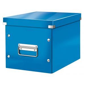 Štvorcová škatuľa A5 (M) Click & Store metalická modrá