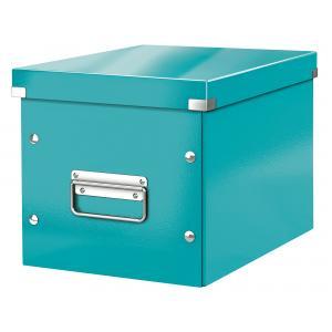 Štvorcová škatuľa A5 (M) Click & Store ľadová modrá