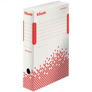 Archívny box Esselte Speedbox 80mm biely/červený