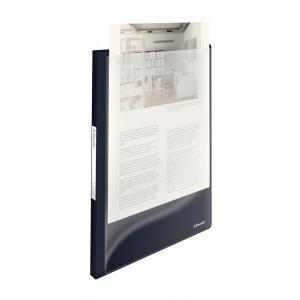 Katalógová kniha 40 Esselte Vivida s predným vreckom čierna