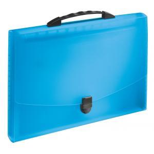 Aktovka s držadlom a priehradkami VIVIDA modrá