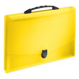 Aktovka s držadlom a priehradkami VIVIDA žltá