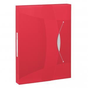Plastový box s gumičkou Esselte VIVIDA červený