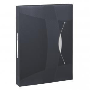 Plastový box s gumičkou Esselte VIVIDA čierny