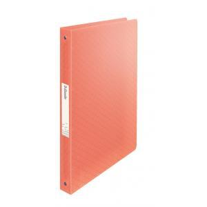 Zakladač 4-krúžkový Esselte Colour'Ice celoplastový 2,5cm broskyňový