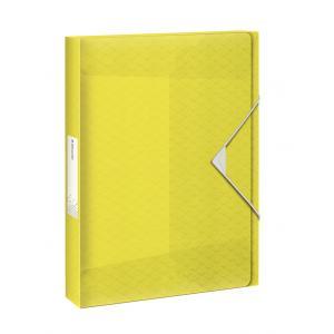 Plastový box s gumičkou Esselte Coulour'Ice žltý