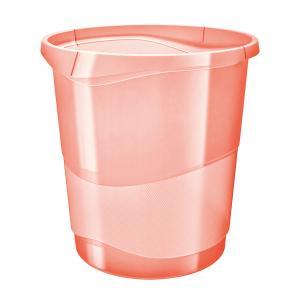 Kôš plastový Esselte Color`Ice 14l broskyňový