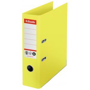 Zakladač pákový Esselte No.1 CO2 neutrálny recyklovaná lepenka 7,5cm žltý