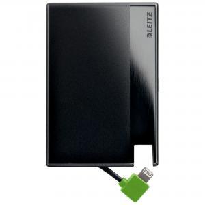 Kompaktná prenosná USB nabíjačka Leitz Complete čierna
