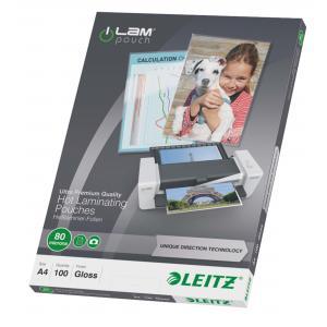Laminovacie fólie Leitz A4 so smerovacou technológiou, 80 mi
