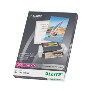 Laminovacie fólie Leitz A4 so smerovacou technológiou, 125 m
