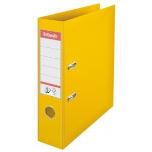 Zakladač pákový Esselte No.1 celoplastový 7,5cm žltý