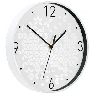 Nástenné hodiny Leitz WOW biela