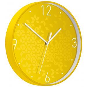 Nástenné hodiny Leitz WOW žltá
