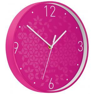 Nástenné hodiny Leitz WOW ružová