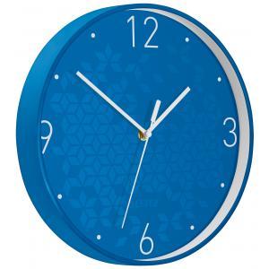 Nástenné hodiny Leitz WOW modrá
