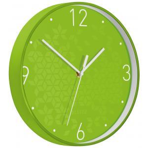 Nástenné hodiny Leitz WOW zelené