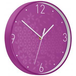 Nástenné hodiny Leitz WOW purpurová