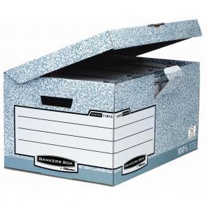 Archívna škatuľa so sklápacím vekom Fellowes BANKERS BOX sivá/biela