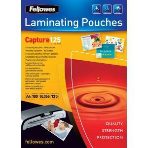 Laminovacie fólie Fellowes 216x303 A4 125mic adhezívne