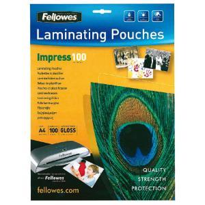 Laminovacie fólie Fellowes 216x303 A4 100mic