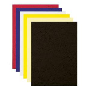 Kartónové obálky na krúžkovú väzbu Delta koža A4 biele