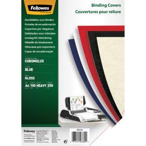 Kartónové obálky na krúžkovú väzbu Chromolux A4 modré