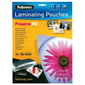 Laminovacie fólie Fellowes 216x303 A4 250mic