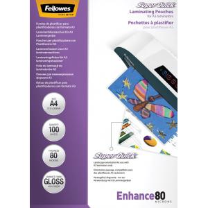 Laminovacie fólie Fellowes 216x303 A4  80mic Superquick
