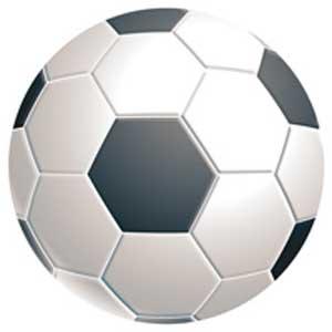 Podložka pod myš kruh Futbalová lopta