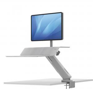 Polohovateľný stojan Sit-Stand Lotus RT pre 1 monitor biely