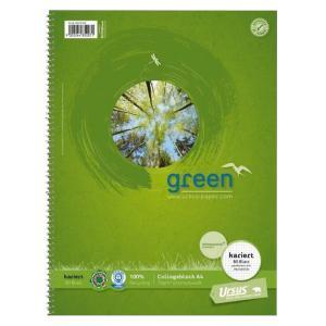Blok College Format Werk Ursus Green A4 80 listov štvorčekový 70g, recyklovaný