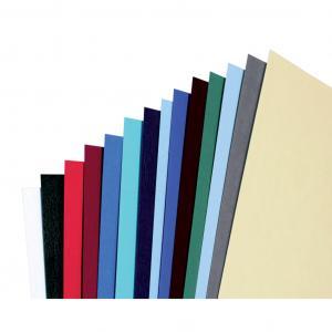 Kartónové obálky na krúžkovú väzbu GBC LeatherGrain A4 čierne