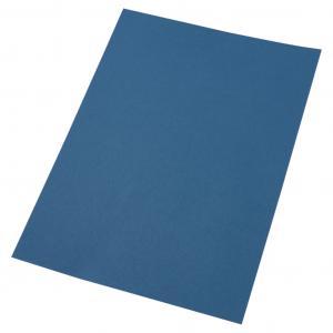 Kartónové obálky na krúžkovú väzbu GBC LeatherGrain A4 modré