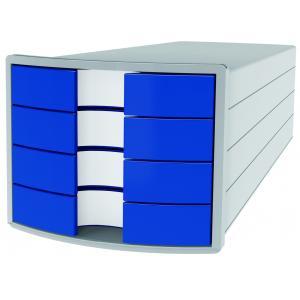Zásuvkový box Impuls zatvorený sivá/modrá