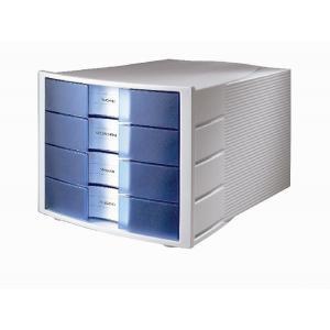 Zásuvkový box Impuls zatvorený sivá/priehľadná modrá
