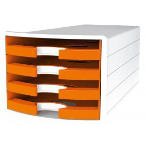 Zásuvkový box IMPULS otvorený oranžový