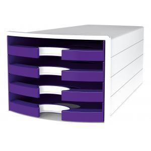 Zásuvkový box IMPULS otvorený fialový
