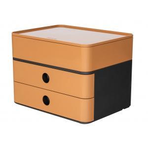 Zásuvkový box ALLISON karamelovo hnedý