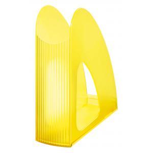 Stojan na časopisy Twin priehľadná signálna žltá
