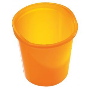 Kôš Economy 13 l priesvitný oranžový