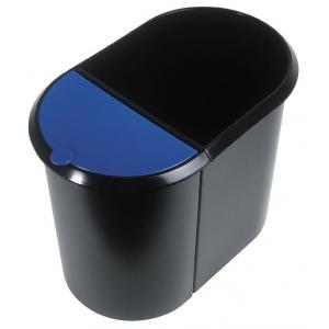Kôš na separovaný odpad čierny/modrá vložka
