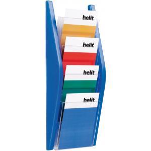 Prezentačný stojan Helit 4xA5 modrý
