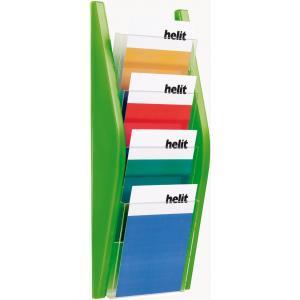 Prezentačný stojan Helit 4xA5 zelený