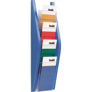 Prezentačný stojan Helit 4x1/3A4 modrý