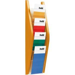 Prezentačný stojan Helit 4x1/3A4 oranžový