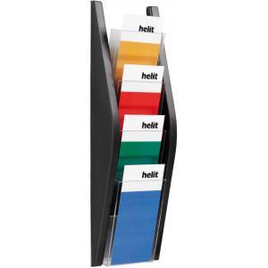 Prezentačný stojan Helit 4x1/3A4 čierny