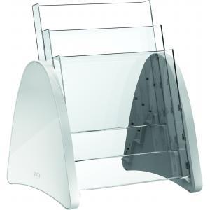 Prezentačný stojan Parabel A4 svetlosivý
